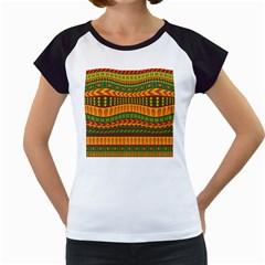 Mexican Pattern Women s Cap Sleeve T