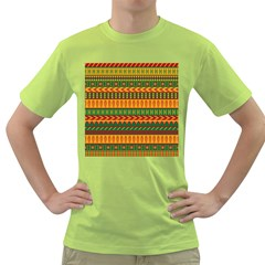 Mexican Pattern Green T Shirt