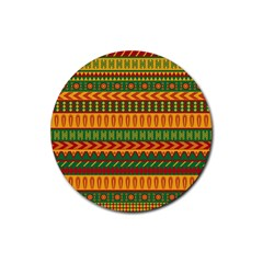 Mexican Pattern Rubber Round Coaster (4 Pack)
