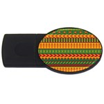 Mexican Pattern USB Flash Drive Oval (4 GB) Front