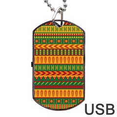 Mexican Pattern Dog Tag Usb Flash (two Sides)