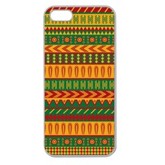 Mexican Pattern Apple Seamless Iphone 5 Case (clear)