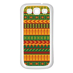 Mexican Pattern Samsung Galaxy S3 Back Case (white)