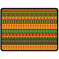 Mexican Pattern Double Sided Fleece Blanket (large)