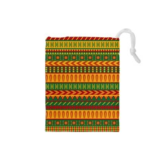 Mexican Pattern Drawstring Pouches (small)