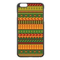 Mexican Pattern Apple Iphone 6 Plus/6s Plus Black Enamel Case