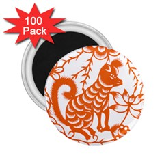 Chinese Zodiac Dog 2 25  Magnets (100 Pack)
