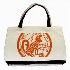 Chinese Zodiac Dog Basic Tote Bag (two Sides)