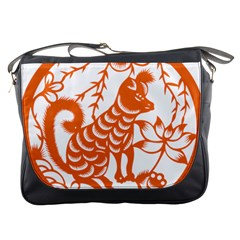 Chinese Zodiac Dog Messenger Bags