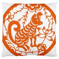 Chinese Zodiac Dog Large Cushion Case (two Sides)
