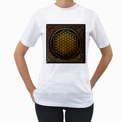 Bring Me The Horizon Cover Album Gold Women s T Shirt (white) (two Sided)