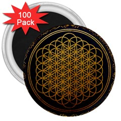 Bring Me The Horizon Cover Album Gold 3  Magnets (100 Pack)