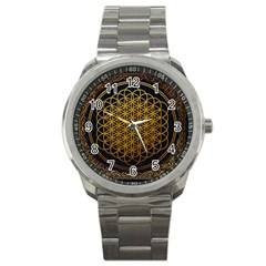 Bring Me The Horizon Cover Album Gold Sport Metal Watch