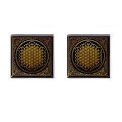 Bring Me The Horizon Cover Album Gold Cufflinks (square)