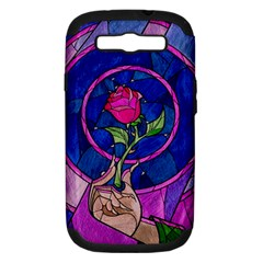 Enchanted Rose Stained Glass Samsung Galaxy S Iii Hardshell Case (pc+silicone)