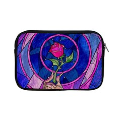 Enchanted Rose Stained Glass Apple Ipad Mini Zipper Cases