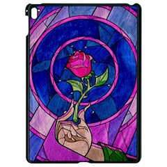 Enchanted Rose Stained Glass Apple Ipad Pro 9 7   Black Seamless Case