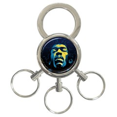 Gabz Jimi Hendrix Voodoo Child Poster Release From Dark Hall Mansion 3 Ring Key Chains