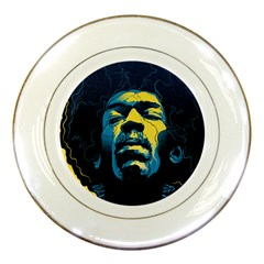 Gabz Jimi Hendrix Voodoo Child Poster Release From Dark Hall Mansion Porcelain Plates