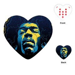 Gabz Jimi Hendrix Voodoo Child Poster Release From Dark Hall Mansion Playing Cards (heart)