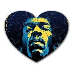 Gabz Jimi Hendrix Voodoo Child Poster Release From Dark Hall Mansion Heart Mousepads