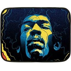 Gabz Jimi Hendrix Voodoo Child Poster Release From Dark Hall Mansion Fleece Blanket (mini)