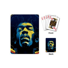 Gabz Jimi Hendrix Voodoo Child Poster Release From Dark Hall Mansion Playing Cards (mini)