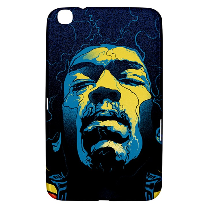 Gabz Jimi Hendrix Voodoo Child Poster Release From Dark Hall Mansion Samsung Galaxy Tab 3 (8 ) T3100 Hardshell Case