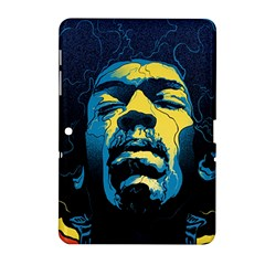 Gabz Jimi Hendrix Voodoo Child Poster Release From Dark Hall Mansion Samsung Galaxy Tab 2 (10 1 ) P5100 Hardshell Case
