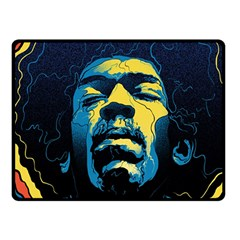 Gabz Jimi Hendrix Voodoo Child Poster Release From Dark Hall Mansion Double Sided Fleece Blanket (small)