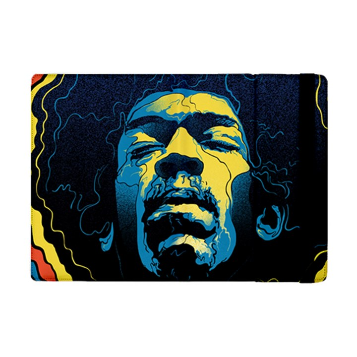 Gabz Jimi Hendrix Voodoo Child Poster Release From Dark Hall Mansion iPad Mini 2 Flip Cases