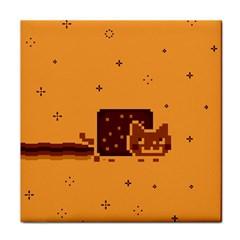 Nyan Cat Vintage Tile Coasters