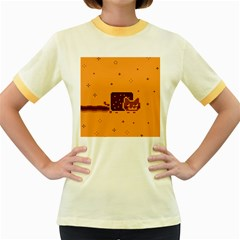 Nyan Cat Vintage Women s Fitted Ringer T Shirts