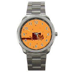 Nyan Cat Vintage Sport Metal Watch