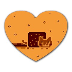 Nyan Cat Vintage Heart Mousepads