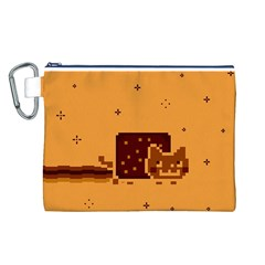 Nyan Cat Vintage Canvas Cosmetic Bag (l)