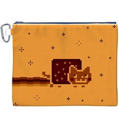 Nyan Cat Vintage Canvas Cosmetic Bag (xxxl)