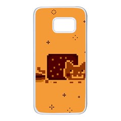 Nyan Cat Vintage Samsung Galaxy S7 White Seamless Case