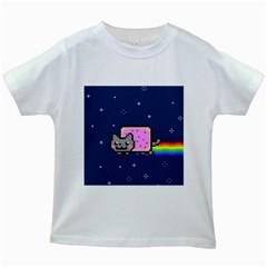 Nyan Cat Kids White T Shirts