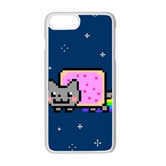 Nyan Cat Apple Iphone 7 Plus White Seamless Case