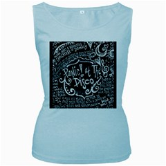 Panic ! At The Disco Lyric Quotes Women s Baby Blue Tank Top