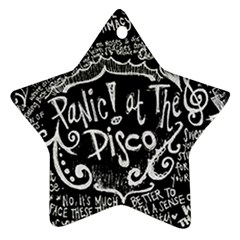 Panic ! At The Disco Lyric Quotes Star Ornament (two Sides)