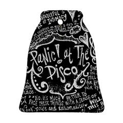 Panic ! At The Disco Lyric Quotes Bell Ornament (two Sides)