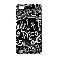 Panic ! At The Disco Lyric Quotes Apple Iphone 4/4s Seamless Case (black)