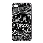 Panic ! At The Disco Lyric Quotes Apple iPhone 4/4s Seamless Case (Black) Front