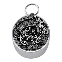 Panic ! At The Disco Lyric Quotes Mini Silver Compasses