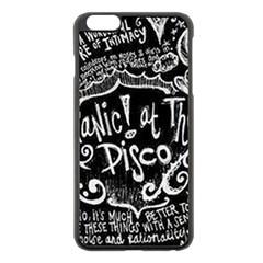 Panic ! At The Disco Lyric Quotes Apple Iphone 6 Plus/6s Plus Black Enamel Case