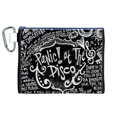 Panic ! At The Disco Lyric Quotes Canvas Cosmetic Bag (xl)