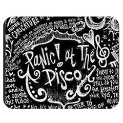 Panic ! At The Disco Lyric Quotes Double Sided Flano Blanket (medium)