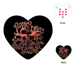 Panic At The Disco   Lying Is The Most Fun A Girl Have Without Taking Her Clothes Playing Cards (heart)